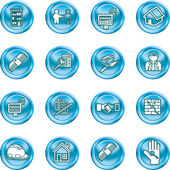 Icons or design elements related to home house buying real estate or estate agents