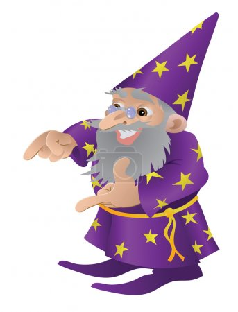 Illustration for Wizard illustration. An illustration of a very funky friendly wizard - Royalty Free Image