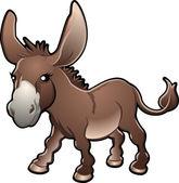 Cute Donkey Vector Illustration
