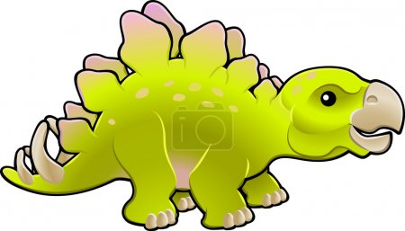 Illustration for A vector illustration of a cute friendly stegosaurus - Royalty Free Image