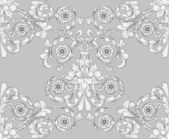 Retro seamless tiling floral wallpaper pattern reminiscent of floral victorian designs inspired by greek and roman ornament Designed to look at its best when t