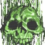 Computer virus skull concept vector illustration...