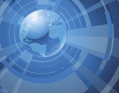 Dynamic 3d world globe background