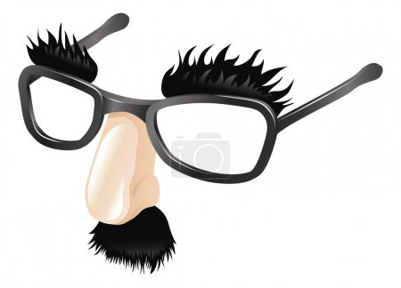 Illustration for Funny disguise, comedy fake nose moustache, eyebrows and glasses. - Royalty Free Image