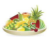 An Illustration of a bowl of fruit