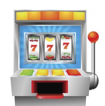 Illustration pour Une machine à sous ou à fruits illustration sur fond blanc - image libre de droit