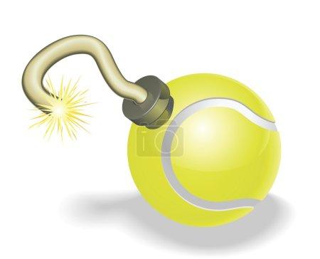 Tennis ball bomb concept