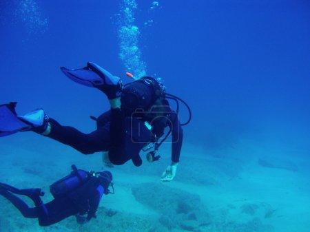 Two Scuba Divers With CopySpace