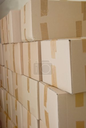 Big Pile Of Cardboard Boxes