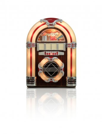 Old Jukebox radio isolated on white background
