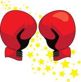 Red Boxing Gloves Illustration