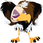 Grumpy Vulture Illustration