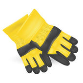 Protective gloves isolated on white background Vector illustration