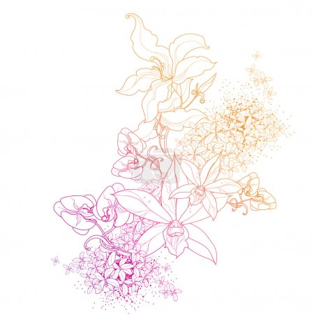 Illustration for Vector floral art background - Royalty Free Image