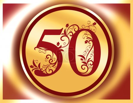 50 anniversary, jubilee, Happy birthday