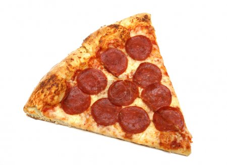 Photo for A slice of pepperoni and cheese pizza. - Royalty Free Image
