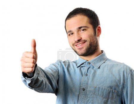 Photo of a young man giving a thumbs up