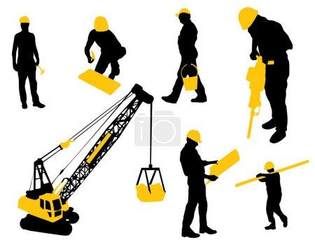 Illustration pour Composants de construction - image libre de droit