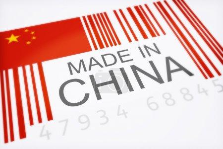 Photo pour Symbolisant les quantités massives de marchandises importées de Chine isolé sur fond blanc, 300 d.p.i - image libre de droit