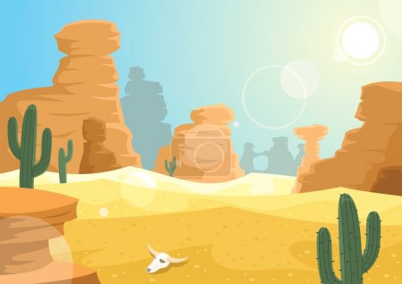 A desert landscape. No transparency used....