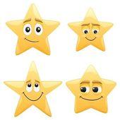 4 shiny cartoon stars No transparency used Basic (linear) gradients used