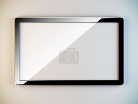 Foto de Una ilustración 3d del marco plástico negro vacío. - Imagen libre de derechos