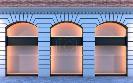 Classical empty storefront.