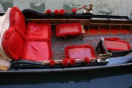 Traditional Venice gondola, details