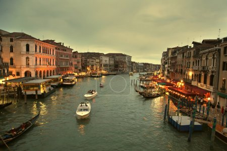 Sunset on the canal grande - Venice, Italy