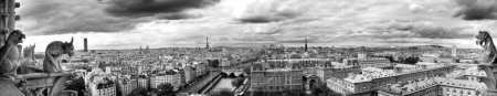 "Paris by Notredame - Landscape "" Black and white """