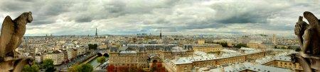 Photo pour Panorama de paris, vu de notre dame - image libre de droit