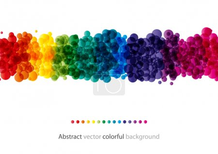 Illustration for Abstract colorful shiny bubble background (eps10) - Royalty Free Image