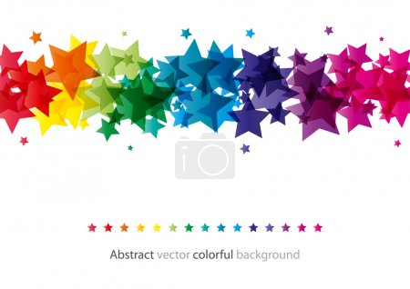 Illustration for Abstract star colorful background (eps10) - Royalty Free Image