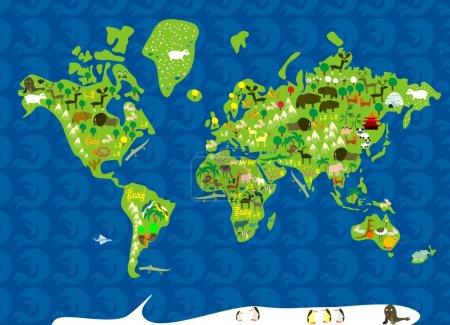 Fauna map pf the world