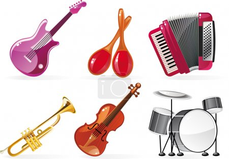 Illustration for Music icons - Royalty Free Image