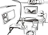 Sketch of the room