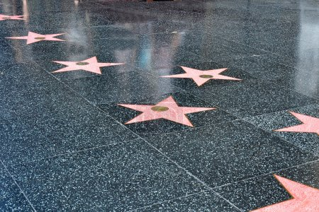Photo for Stars in the sidewalk along the Hollywood walk of fame - Royalty Free Image