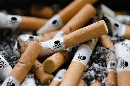 Photo pour Danger des cigarettes - image libre de droit