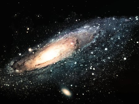 Graphic image of galaxy in universe