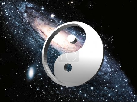 Photo for Ying yang on space - Royalty Free Image