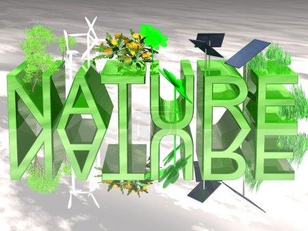 Photo pour Nature 3D - image libre de droit