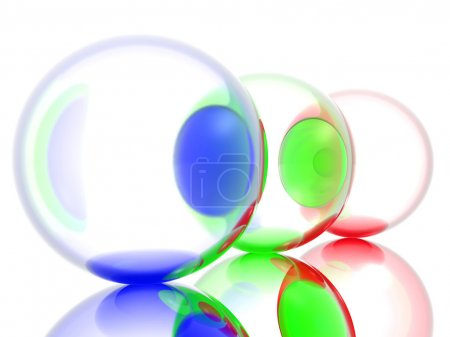 Three colored balls