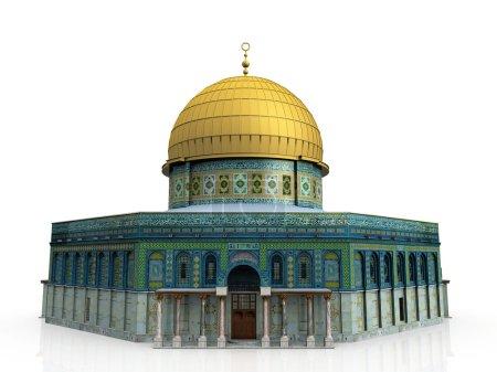 Photo pour Une mosquée sur fond blanc - image libre de droit