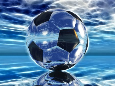 Football on a blue background