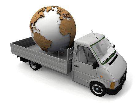 Photo pour Transport de la Terre - image libre de droit