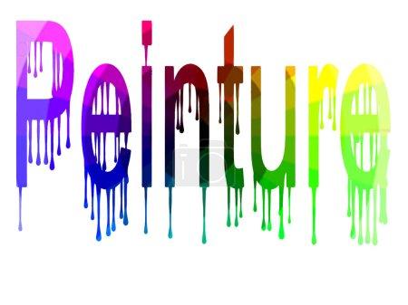 Painting in rainbow