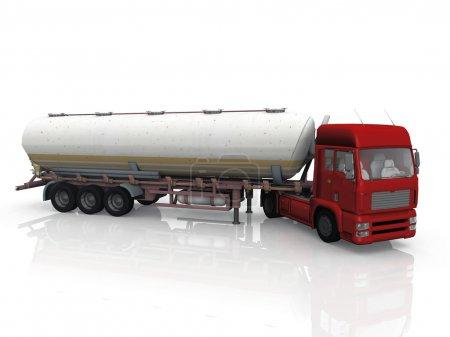Photo pour Camion citerne de carburant - image libre de droit