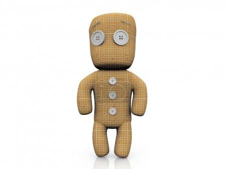 Photo pour La poupée en chiffon - image libre de droit