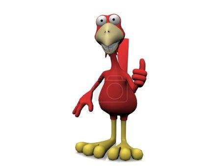 Photo pour Oiseau rouge - image libre de droit