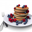 Sweet pancakes with berrys...